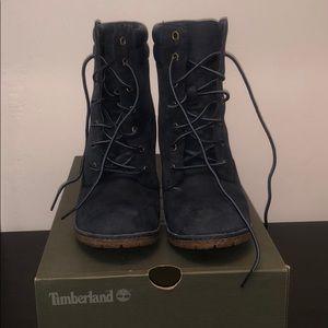 Navy Timberland Tillston boot heels
